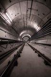 Túnel profundo del metro Fotografía de archivo