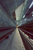 Túnel profundo del metro Fotos de archivo libres de regalías