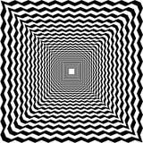 Túnel psicodélico, fondo abstracto blanco y negro, óptico libre illustration