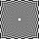 Túnel psicodélico, modelo del tablero de ajedrez libre illustration