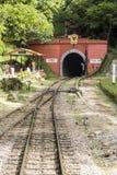 Túnel Railway 1352 de Khuntan 10 m por muito tempo em Lampang, Tailândia Fotografia de Stock Royalty Free