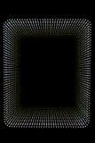 Túnel retangular que conduz ao buraco negro Fotos de Stock