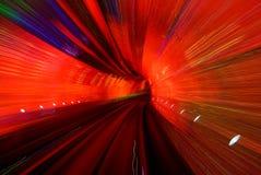Túnel rojo Imagen de archivo libre de regalías