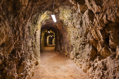 Túnel secreto no castelo Kufstein - Áustria Fotografia de Stock Royalty Free