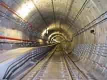 Túnel subterráneo Foto de archivo libre de regalías