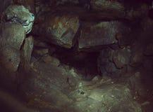 Túnel subterráneo de las cuevas Imagenes de archivo