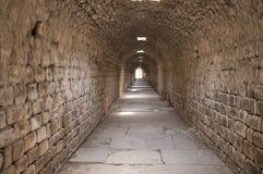 Túnel subterráneo en Asklepion de Prgamon (Pergamum), Bergama, Tur Fotos de archivo