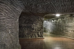 Túnel subterráneo en la mina de sal Imágenes de archivo libres de regalías