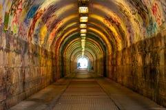 Túnel subterráneo urbano Imágenes de archivo libres de regalías