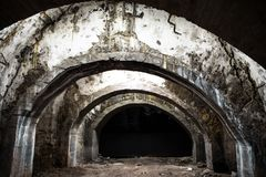 Túnel subterráneo viejo Foto de archivo