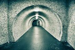 Túnel subterráneo viejo abandonado Imagen de archivo libre de regalías