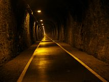 Túnel subterrâneo do metro Imagens de Stock