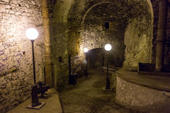 Túnel subterrâneo em Peter The Great Sea Fortress, Tallinn, Estônia Fotografia de Stock