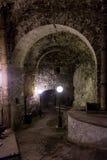 Túnel subterrâneo em Peter The Great Sea Fortress, Tallinn, Estônia fotografia de stock royalty free