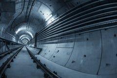 Túnel subterrâneo para o metro Fotografia de Stock Royalty Free