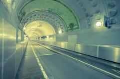 Túnel velho de Hamburgo Elbe Imagens de Stock