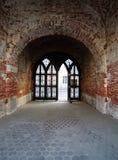 Túnel velho do tijolo Fotografia de Stock