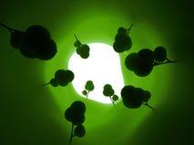 Túnel verde Fotos de Stock Royalty Free