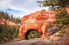 Túnel vermelho de Canyon Road Fotografia de Stock Royalty Free