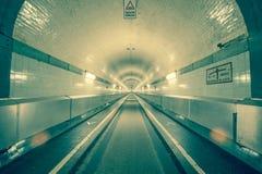 Túnel viejo de Hamburgo Elba Foto de archivo