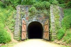Túnel viejo de la bici del carril fotografía de archivo