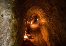 Túneles famosos de la ji del Cu Vietnam fotografía de archivo