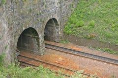 Túneles ferroviarios gemelos Imagen de archivo libre de regalías