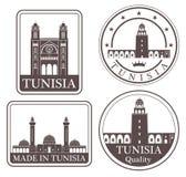 Túnez abstracta ilustración del vector