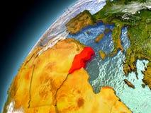 Túnez de la órbita de Earth modelo Fotografía de archivo libre de regalías