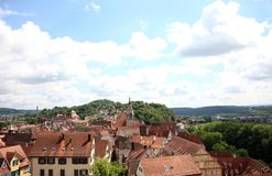 Tübingen or Tuebingen in Germany. View of the historic town of Tuebingen, Germany located in Baden-Wuerttemburg. This photograph was taken atop the castle Stock Photos