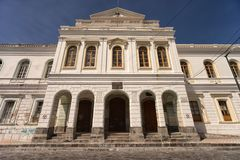 Tünchearchitektur in Ibarra Ecuador Lizenzfreies Stockbild