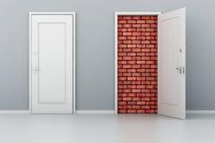 Tür 3d kein Ausweg stock abbildung