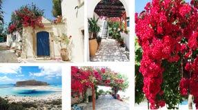 Tür achitecture Detail im Hotel, das Griechenland errichtet Lizenzfreie Stockfotos