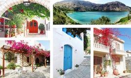Tür achitecture Detail im Hotel, das Griechenland errichtet Lizenzfreie Stockfotografie