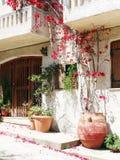 Tür achitecture Detail im Hotel, das Griechenland errichtet Stockfotografie