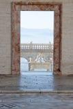 Tür auf dem Balkon Lizenzfreies Stockfoto