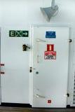 Tür auf Kreuzschiff Stockbild