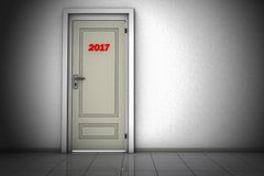 Tür bis 2017 stock abbildung