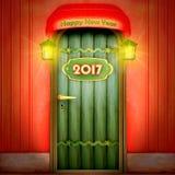 Tür bis 2017 lizenzfreie stockfotos