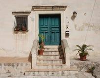 Tür in Caveoso Sassi Stockfoto