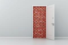 Tür 3d kein Ausweg Stockfoto