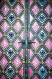 Tür der Basilika von St Peter und von St. Paul Church, Prag, Tschechische Republik stockfoto