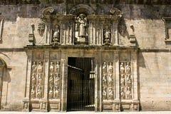 Tür der Kathedrale - Santiago de Compostela, Spanien Lizenzfreie Stockfotografie