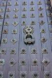 Tür der Kathedrale - Santiago de Compostela, Spanien Stockbild