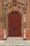 Tür an der Kirche Stockbild