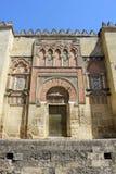 Tür der Moschee in Cordoba Stockfotos