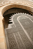 Tür an der Moschee Hassan-II Lizenzfreies Stockfoto