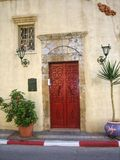 Tür des alten Hauses Stockfotos