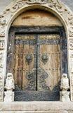 Tür des alten Tempels. Lizenzfreie Stockfotografie