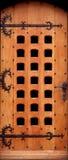 Tür des festen Holzes stockfotografie
